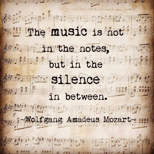 Music is not in the notes